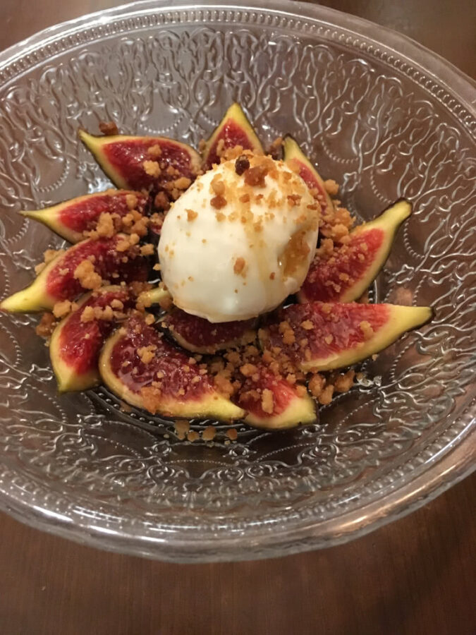 Fig and Ice Cream Dessert - Spain